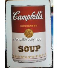 แผ่นสังกะสี, ป้ายสังกะสี ลาย Campbells\' Soup 20 x สูง 30 ซ.ม.