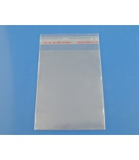B03359ถุงพลาสติกใสมีแถบกาวปิดปากถุง 7x11.5cm (ส่วนใช้งาน 7x9.5cm) แพ็ค 200 ใบ