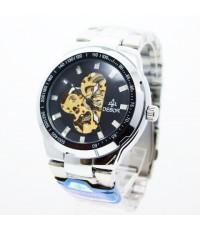 นาฬิกาข้อมือชาย DEBOR ระบบ AUTOMATIC หน้าปัดดำ