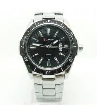 นาฬิกาข้อมือผู้ชายสุดสวย CURREN แท้ หน้าปัดสีดำ เรือนเงิน มีวันที่