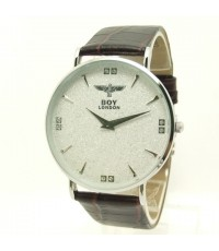 นาฬิกาข้อมือ BOY LONDON แท้ระบบ QUARTZ หน้าปัดสีขาวลายกากเพชร