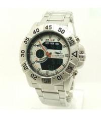 นาฬิกาข้อมือชาย US SUBMARINE แท้ 2 ระบบสายเหล็ก หน้าปัดสีครีมอ่อน