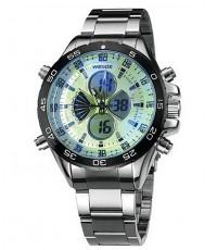นาฬิกาข้อมือชาย WEIDE กระจกหน้าปัดเหลี่ยม หน้าปัดสีขาว มาใหม่ เรือนใหญ่ สุดแกร่ง