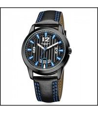 นาฬิกาข้อมือชาย EYKI รุ่น OVERFLY ซีรี่รุ่นใหม่ หน้าปัดสีดำ สายหนัง