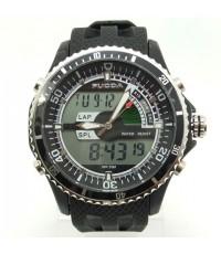 นาฬิกาข้อมือ FUCDA 2 ระบบ ทรงสปอร์ตขอบหน้าปัดหยัก สายยางสวย
