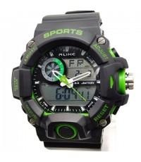 นาฬิกาข้อมือ ALIKE 2 ระบบ ทรง G-SHOCK สีเขียว รุ่นใหม่ เจ๋งสุดยอด