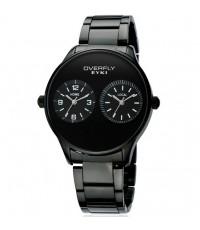 นาฬิกาข้อมือชาย EYKI ซี่รี่ส์ OVERFLY 2 หน้าปัดเรียบสีดำเรือนดำ รูปแบบสวย