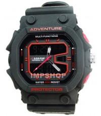นาฬิกาข้อมือ US SUBMARINE 2 ระบบ ทรง G-SHOCK ปุ่มสีแดง