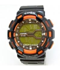 นาฬิกาข้อมือ EXPONI ระบบ DIGITAL ขอบหน้าปัดสีส้ม ทรง G-SHOCK สุดเจ๋ง
