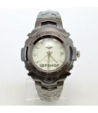 นาฬิกาข้อมือชาย BODYMASTER หน้าปัดสีขาว รูปแบบตัวเรือนสุดเจ๋ง