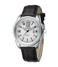 นาฬิกาข้อมือผู้ชาย CURREN แท้ หน้าปัดเงิน เลขโรมัน สายหนัง
