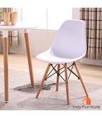 เก้าอี้อเนกประสงค์ รุ่น Wagon สีขาว/ขาไม้บีช
