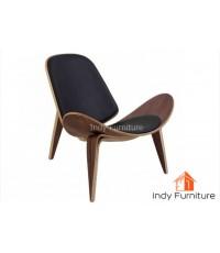 เก้าอี้พักผ่อน รุ่น Curve สีวอลนัท