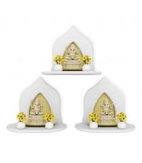 Mini Buddha Shelf W ซื้อ 3 ชิ้น ถูกกว่า สีขาว