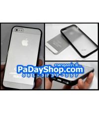 [2015] เคสฝาหลังขุ่น ขอบสีดำ-ขาว อวดโชว์ฝาหลัง iPhone 5 ลดราคาพิเศษ เหลือชุดละ 39บาท!