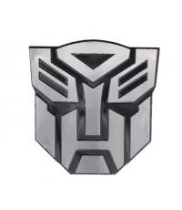 [199บาท 7x7ซม. อัลลูมิเนียม] Logo Transformers ฝ่ายพระเอก Autobots สีดำ