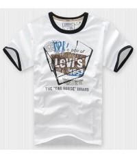เสื้อยืดผู้ชาย แขนสั้น คอกลม คอวี ยี่ห้อ ลีวายส์ Levi\'s  Polo T-Shirt นำเข้าจากต่างประเทศ ของแท้