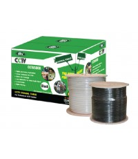 สาย RG6 ชีลล์ 95 CCTV dBy  รุ่น COXRE-DBY-CCTV500W-00 (สีขาว 500 เมตร)