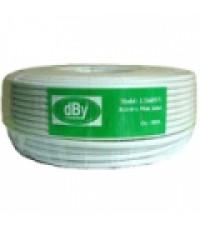 สาย RG6 ชีลล์ 60 SAT dBy รุ่น COXRE-DBY-LT660WV100-00 (สีขาว 100 เมตร)