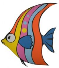 ตุ๊กตาโฟมยางติดผนัง ปลาจาน