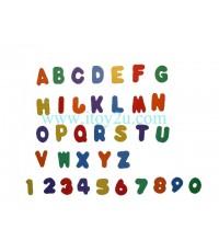 ตัวอักษร A-Z 0-9 สีเข้ม