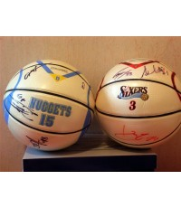 Ball Signed By Allen Iverson and Teammate