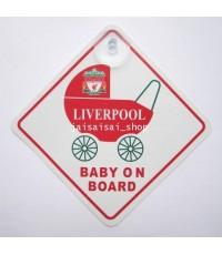 แผ่นโลโก้ติดกระจก ทีมลิเวอร์พูล Liverpool FC