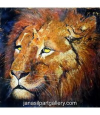 ขายภาพวาดสีน้ำมัน ภาพวาดตกแต่งห้อง ภาพวาดสิงโต01