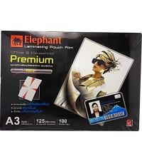 พลาสติกเคลือบบัตร ELEPHANT A3*125 micron  (Premium)