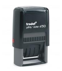 โทรดัท ตรายางวันที่หมึกในตัว RECEIVEDน้ำเงิน วันที่แดง TRODAT TR-4750