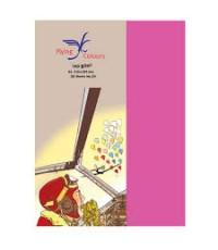 กระดาษสีFlying Colours 160 แกรม ขนาดA4 สีชมพูบานเย็น24 (50 แผ่น/ห่อ)