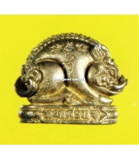 หมูเศรษฐี (พิมพ์จิ๋ว) เนื้อทองระฆัง ปี 62 ลพ.สิน วัดละหารใหญ่