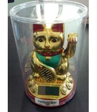 แมวกวัก 4นิ้ว ( Solar - แกว่งแขนได้)