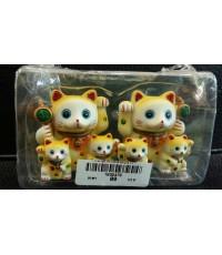 ครอบครัวแมวสีเหลือง ขนาด1.5นิ้ว