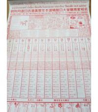 ปฎิทินน่ำเอี๊ยงปี2559 แบบแขวน ปฎิทินไทย-จีน โดยโหราศาสตร์น่ำเอี๊ยง