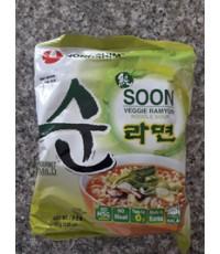 ซุนเวจจี ราเมียน Soon Veggie Ramyun Noodle Soup(บะหมี่มังสวิรัติ รสผัก)