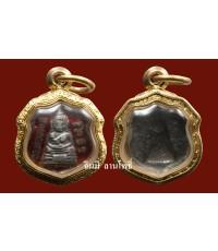 หัวแหวน ลพ.โสธร  ปี ๒๕๐๓ เนื้อเงินลงยาราชาวดี สีแดง