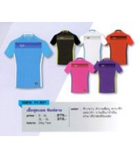 เสื้อฟุตบอล พิมพ์ลาย code 11-431 size 3L สีบานเย็นน้ำเงิน อก 45 นิ้ว ยาว 30 นิ้ว