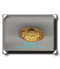หลวงพ่อมี วัดมารวิชัย แหวนยันต์นะหน้าทองรุ่นแรก พ.ศ.2539 เนื้อฝาบาตร