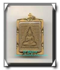 พระวัดปากน้ำ รุ่น 6 องค์ที่ 12 เนื้อฟักทอง เลี่ยมทองคำ