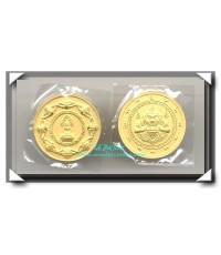 เหรียญเทพหนุมาณศรีวิชัย เนื้อชุบไมครอน ขนาด 3.2 ซม.