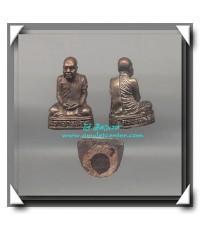 หลวงพ่อ ทองดำ อินทฺวํโส วัด ถ้ำตะเพียนทอง รูปหล่อ รุ่นแรก เนื้อนวโลหะ