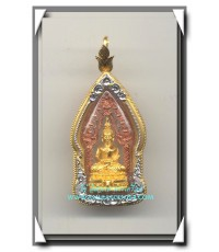 พระนิรันตราย วัดบวรนิเวศวิหาร เนื้อสองกษัตริย์ องค์พระทองคำซุ้มนาก พ.ศ. 2542 เลี่ยมทองอย่างดี