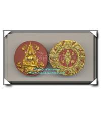 พระพุทธชินราช รุ่นมหาสิทธิโชคเนื้อไม้พญางิ้วแดง ปิดทองเดิมจากวัด