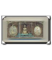 หลวงพ่อเดิม วัดหนองโพธิ์ พระชุด 3 องค์ วัดหนองบัว รุ่นฉลองวิหารหลวงพ่อเดิม พ.ศ.2529 เกจิเสก 108 องค์