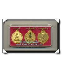 เหรียญชุด หลวงพ่ออี๋ กรมหลวงชุมพร พระเจ้าตากสิน วัดสัตหีบ ครบชุด พ.ศ.2543