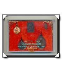 หลวงพ่อเกษม เขมโก สุสานไตรลักษณ์ ชุดชนะศึกชายแดน 5 องค์ครบชุด พ.ศ.2528 (3)