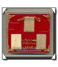 พระสมเด็จวัดเกษไชโย  หลัง ภปร. ตราครองราชย์ 6 รอบ ครบชุด 3 องค์ พ.ศ.2541