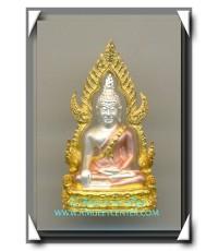 พระพุทธชินราช เนื้อเงิน 3 กษัตริย์ รุ่น มหาลาภ พ.ศ.2540 งานแพรนด้าจิวเวลลี่พร้อมกล่องเดิม