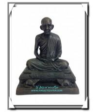 หลวงพ่อเกษม เขมโก พระบูชารูปเหมือนครบรอบ 80 ปี ใต้ฐานบรรจุพระผงรูปเหมือน พ.ศ.2534